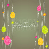 Illustrated Easter card design Stock Photos