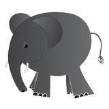 Illustrated elephant baby Stock Photography