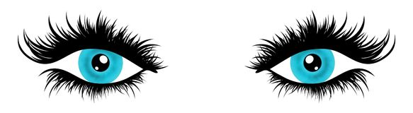 Illustrated Eyes Royalty Free Stock Images