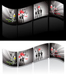 Illustrated filmstrips Royalty Free Stock Photo