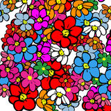 Illustrated flower background Royalty Free Stock Photos