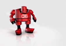 Illustrated football robot Stock Images