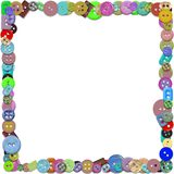 Illustrated frame of Buttons Stock Images
