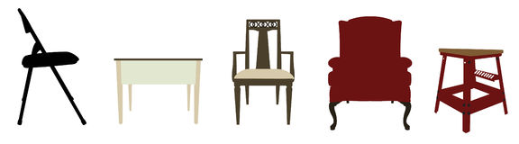 Illustrated Furniture Stock Images