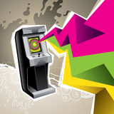Illustrated game arcade. Royalty Free Stock Photos