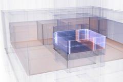 Illustrated Generic Architectural Blueprint Floorplan B Royalty Free Stock Photography