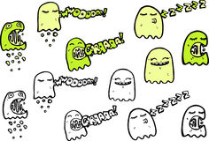 Illustrated ghost characters Stock Image