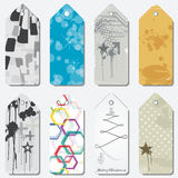 Illustrated gift tags Stock Image