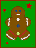 Illustrated Gingerbread Man Stock Photo