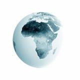 Illustrated globe. Isolated on white Stock Photo