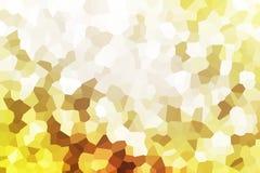 Illustrated golden mosaic background Royalty Free Stock Image
