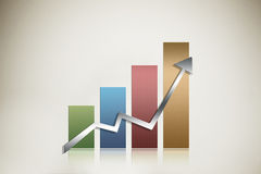 Illustrated graph Royalty Free Stock Photography