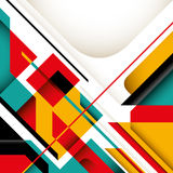 Illustrated graphic. Illustrated graphic with colorful geometric shapes Stock Photography