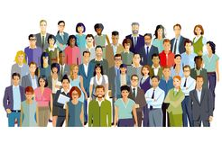Group of business professionals royalty free illustration