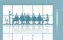 Illustrated group meeting Royalty Free Stock Images