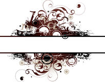 Illustrated grunge banner Stock Images