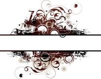 Illustrated grunge banner. Illustrated grunge black and gray design banner stock illustration