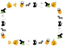 Illustrated Halloween Frame Royalty Free Stock Photo