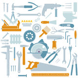 Illustrated hand tools Royalty Free Stock Photo