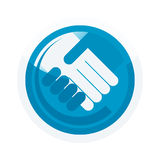 Illustrated handshake Royalty Free Stock Photography