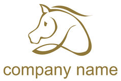 Illustrated horse logo Royalty Free Stock Photography