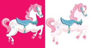 Illustrated horses Stock Image