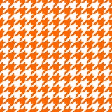 Orange hounds tooth design stock photos