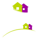 Illustrated house icons. Illustrated cute abstract house icons Stock Illustration