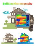 Building thermography illustration Royalty Free Stock Photo