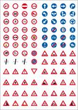 Road sign icons stock illustration