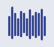 Illustrated icon sound wave. On white background Stock Photos