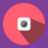 The illustrated image is a camera clip image icon can be used in various media applications. Royalty Free Stock Image