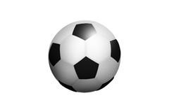 Illustrated Isolated Football Ball Stock Image