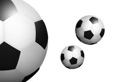 Illustrated Isolated Football Ball Stock Photos