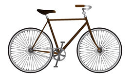 Illustrated isolated realistic vector sport bicycle Royalty Free Stock Photos