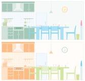 Illustrated kitchen Stock Photo