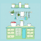 Illustrated kitchen Royalty Free Stock Photo