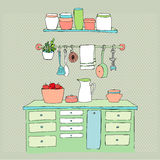 Illustrated kitchen Royalty Free Stock Photos