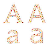 Illustrated letter A. Four variations royalty free illustration