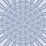 Illustrated mandala abstract. Illustrated abstract modern mandala pattern in shades of blue Royalty Free Stock Images