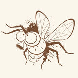 Illustrated mosquito Royalty Free Stock Photos