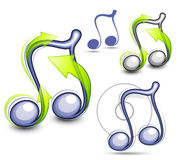 Illustrated music notes. A set of illustrated music notes Royalty Free Stock Images