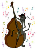 Illustrated musician cat Royalty Free Stock Photo