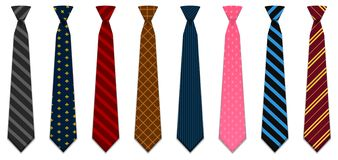 Illustrated neck ties royalty free illustration
