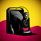 Illustrated old camera. vector illustration