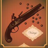 Illustrated old gun. Royalty Free Stock Photos
