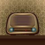 Illustrated old radio. Royalty Free Stock Photos