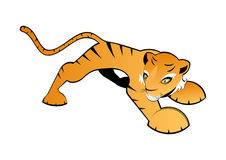 Illustrated orange tiger Royalty Free Stock Photo