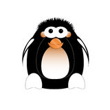 Illustrated penguin Stock Photography