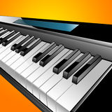 Illustrated piano keyboard Stock Image